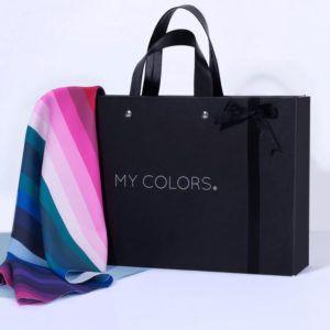Portafolio con telas drapeado - Tienda Bibi Nassar